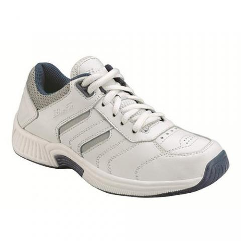 Feet Womens Lace Orthopedic Athletic Shoes (White)