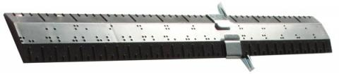 1-Foot Braille Rulers: English Measurement Ruler (Model 1-03070-00) & Metric-English Measurement Ruler (Model 1-03100-00)