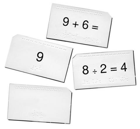 Math Drill Cards (Models 1-03551-00, 1-03552-00, 1-03553-00, 1-03554-00, & 1-03555-00)