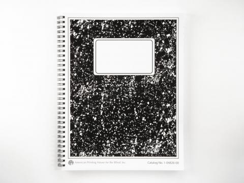 Collegiate Boldline Spiral Notebook (Model 1-04826-00)