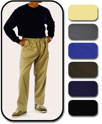 Elastic Waist Pant With  Button Fly (Model 102E)