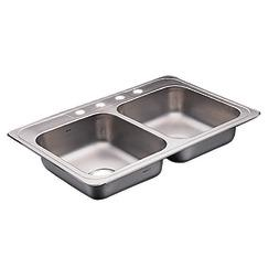 Commercial Double Bowl Kitchen Sink (Model 22129)