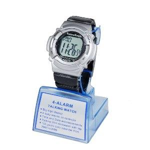 Voice Zone 4 Alarm Talking Watch, Date And Stopwatch