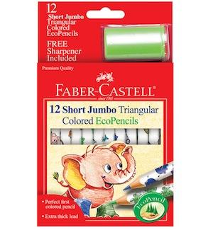 Faber-Castell Jumbo Triangular Colored Ecopencils