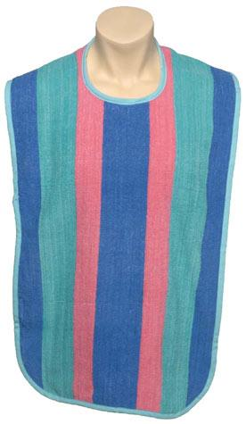 Adult Striped Reusable Bib