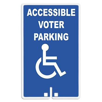 Accessible Voter Parking Sign With Handicap Access Symbol (Model 2002)