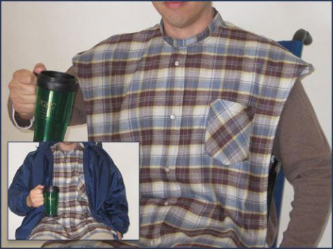 Adult Bib Flannel Shirt Clothing Protector