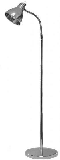 Task Vision Chrome Floor Lamp