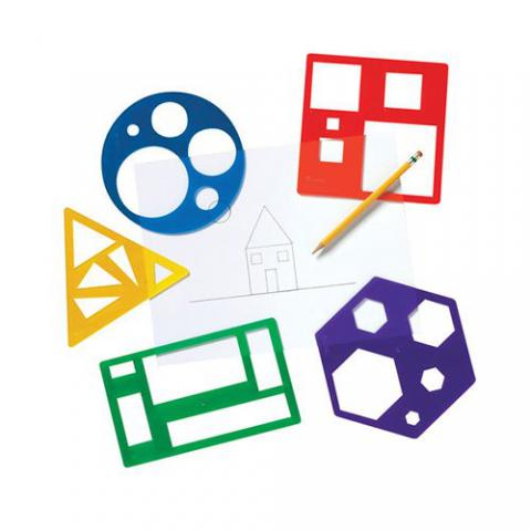 Learning Resources Primary Shape Template Set, Set of 5