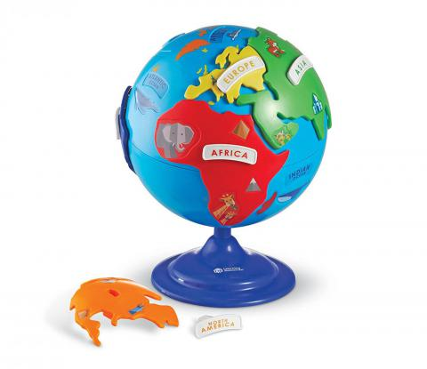 Learning Resources Puzzle Globe, 14 Pieces