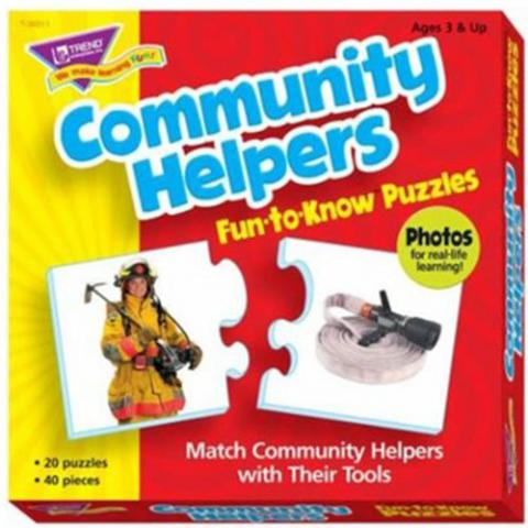 Trend Enterprises Community Helpers Puzzle Set