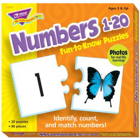 Trend Enterprises Numbers 1 to 20 Puzzle Set