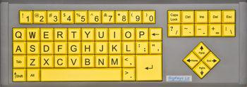 Black On Yellow BigKeys LX