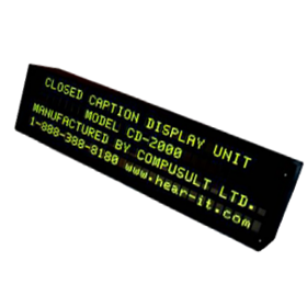 Compusult Closed Caption Display Unit